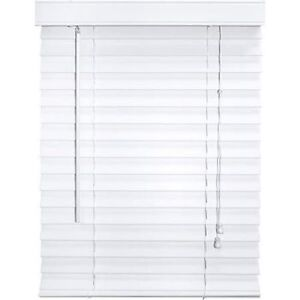 2 Inch Faux Wood Blind, White