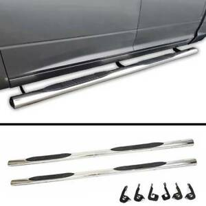 "NEW OEM Style 4"" Chrome Running Boards for 07-18 Toyota Tundra"