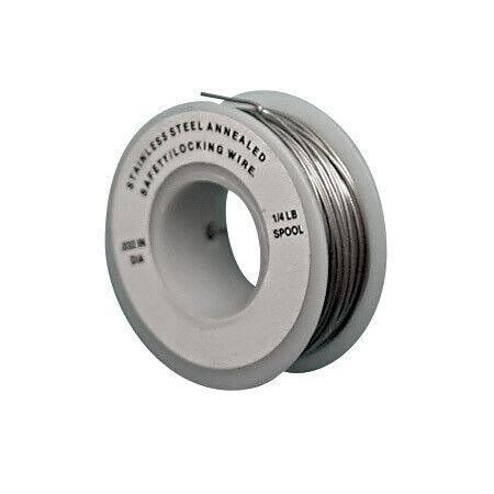 "STAINLESS STAINLESS SEIZING (LOCKING) WIRE, 0.032"" X 1/4 LB"