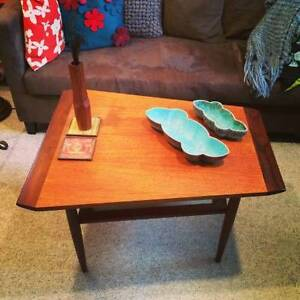 Two tone teak coffee table