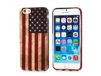 Brand new IPhone 6 silicon case Vintage American flag print