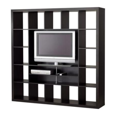 ikea kallax expedit tv unit television stand black brown drawers cupboards inserts in. Black Bedroom Furniture Sets. Home Design Ideas
