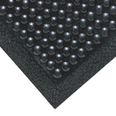 NOTRAX 447S2436BL Black Antifatigue Mat 2 ft W x 3 ft L, 3/8 in, Rubber