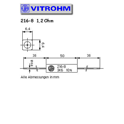 6R8  6,8R 10/%  9W  VITROHM 214-8  Widerstand Keramikwiderstand axial  #BP 4 pcs