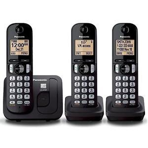 PANASONIC KXTGC213 DECT 6.0 EXPAND CORDLS PHONE W/3HANDSETS