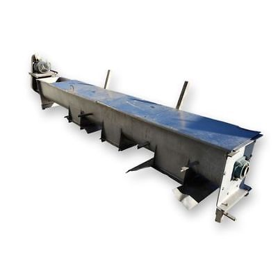 Used 16 Dia. X 14 Long Stainless Steel Screw Auger Conveyor