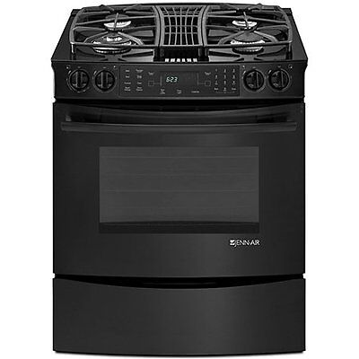 "New Black Jenn-Air 30"" Slide-In Gas Downdraft Convection Range **Warranty** on Rummage"