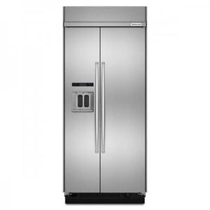 """36"""" KITCHENAID  80"""" TALL BUILT-IN STAINLESS STEEL REFRIGERATOR"""
