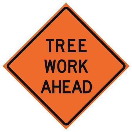 Eastern Metal Signs And Safety 669-C/36-Emo-Ta 36In Tree Work Ahead Mesh