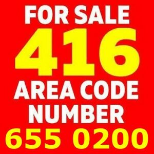Selling 416 Phone Number 416.x55.0200 - Easy to Remember Number