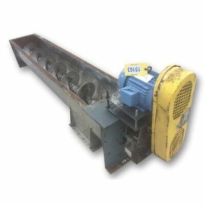 Used 16 Dia. X 10 Long Kws Mfg Industrial Screw Feeder Auger Conveyor