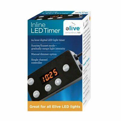 ELIVE MARINELAND INLINE LED Digital TIMER for Aquarium Light Sunrise Sunset ()