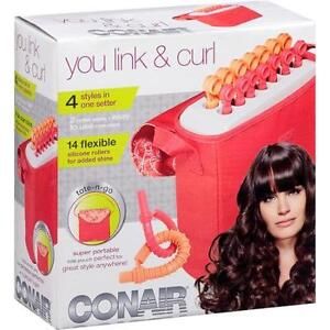 Conair You Link & Curl Hot Rollers. Excellent condition.