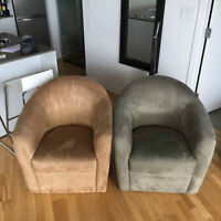 Beautiful Suede Chairs