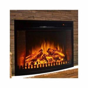 "Gibson Living Curved Ventless Wall Mount Electric Fireplace Insert 23"" NEW"