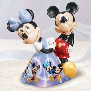 Mickey and Minnie Mouses MAGICAL MOMENTS Heirloom Porcelain Bell