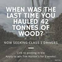 WANTED: Exceptionally Reliable Class 1 Driver (Fort St. John)