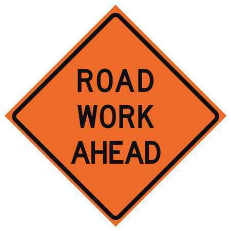 Eastern Metal Signs And Safety 669-C/36-Rvfo-Rw Traffic Sign,Road Work Ahead H