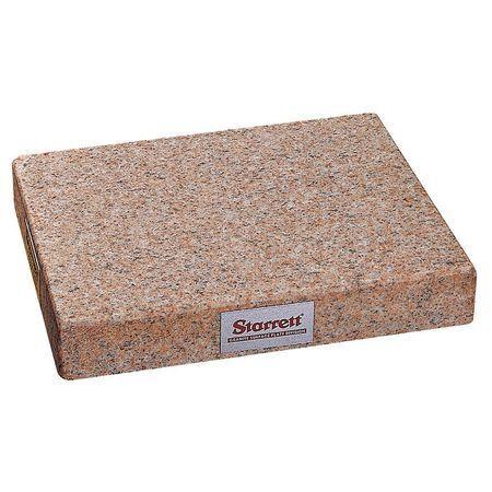 STARRETT 81803 Granite Toolmakers Flat,Pink,8x12x2