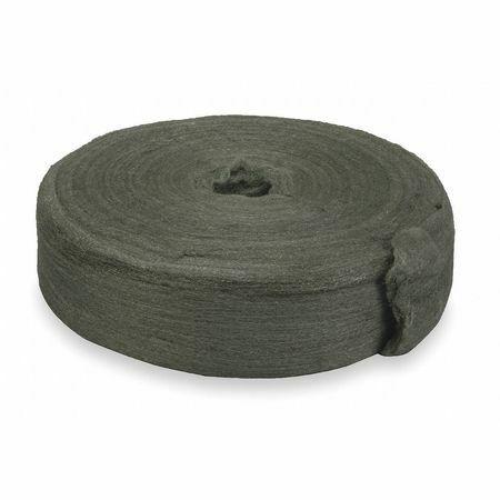 Zoro Select 2Kjl6 Carbon Steel Wool Reel,Very Fine
