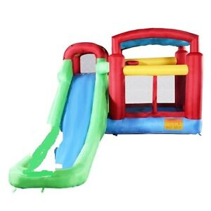 INFLATABLE BOUNCER WITH WATER SLIDE FOR SALE