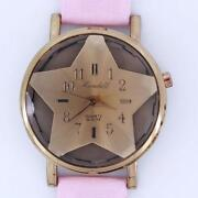 Women Pink Leather Watch