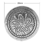 Metal Flower Buttons