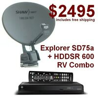 Explorer SD-75a Shaw Direct RV Satellite Dish + HDDSR 600HD Rece