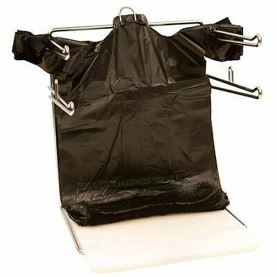 Bags 16 Large 21 X 6.5 X 11.5 Black T-shirt Plastic Grocery Shopping Bags