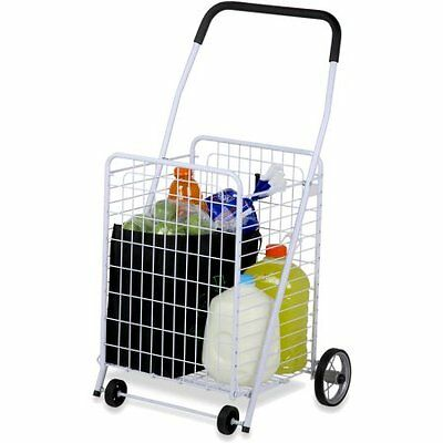 Honey-can-do Rolling 4-wheel Utility Cart Crt-01513 Whi W