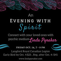 An Evening With Spirit in Langford (Victoria)