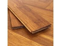 Solid Carbonised bamboo parquet flooring 7m2