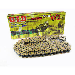 DID 520VX2 X'Ring Chain Gold Black 120 Links