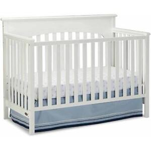 Graco Lauren 4-in-1 Convertible Fixed-Side Classic Crib, White