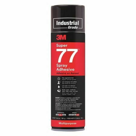 3M SUPER 77 Spray Adhesive,Size 13.44 oz.,Multipurpose