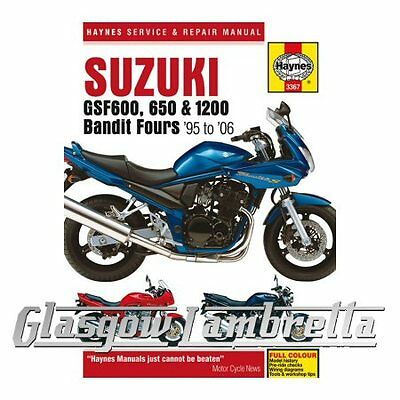 Haynes Service & Repair Manual 3367 Suzuki GSF600, 650 & 1200 Bandit Fours