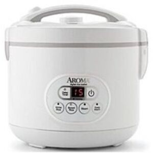 Aroma ARC-926D 12 Cup Digital Rice Cooker and Steamer - White