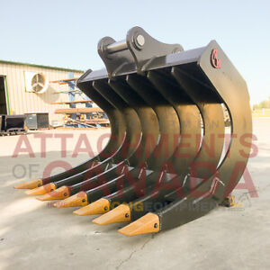 EXCAVATOR ROOT RAKES - CANADIAN BUILT - ALL SIZES