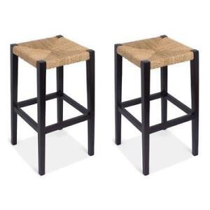 BirdRock Home Rush Weave 30'' Bar Stool (Set of 2) NEW ** 5 CORNERS FURNITURE**