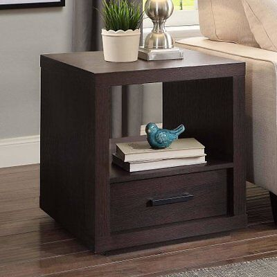Better Homes and Garden Steele End Table, Espresso Finish