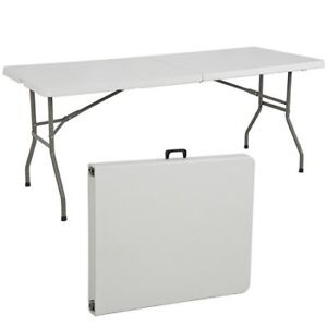 Deluxe 6 Ft Plastic Foldable/Folding Table. Brand New RELYPLAST