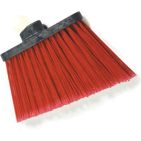 "Carlisle 3686705 Duo-Sweep Medium Duty Angle Broom w/12"" Flare Red 12 pack"