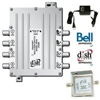 Videopath SW-44(SW44)Multi-Dish Switch with PowerInserter& Adapt