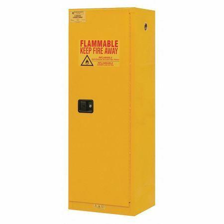DURHAM MFG 1022M-50 Safety Cabinet, Manual Close, 22 gal., Yellow