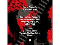 fabric Presents: Jon Hopkins (DJ Set) & Demdike Stare
