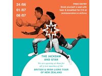 WATCH LIONS TOUR RUGBY AT JACKDAW AND STAR, HOMERTON