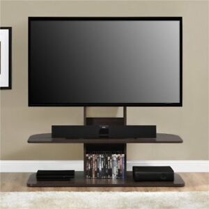 """Galaxy TV Stand with Mount for TVs up to 65"""", Walnut Color"""