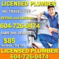 LICENSED Plumber - QUALIFIED Plumbers ** FAST- REPAIR** Plumbing