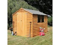 8x6 overlap shed, new also free timber base