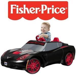 USED* FISHER PRICE 6V CORVETTE CAR POWER WHEELS - RIDE ON 6V 103008674